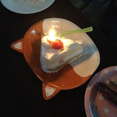 10月誕生日会ケーキ